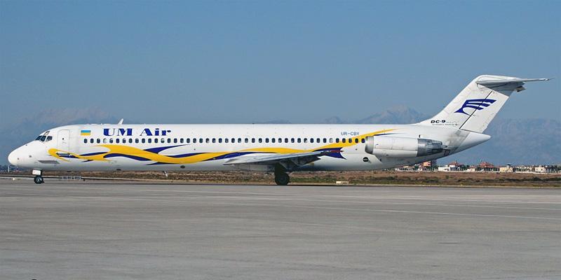Самолет Airbus A320 авиакомпании UM Air