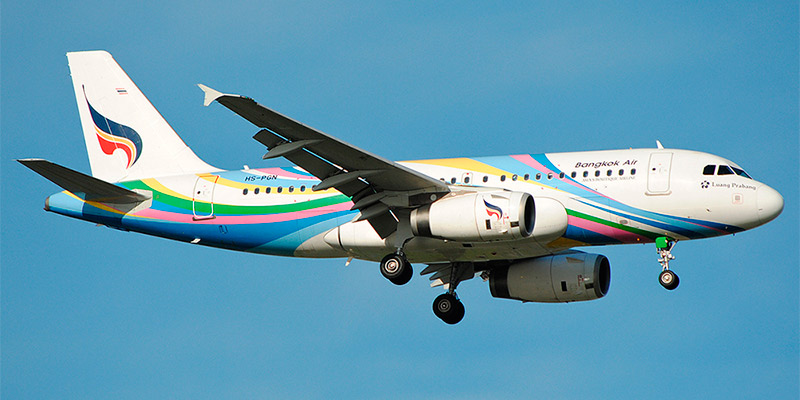 Самолет Airbus A319 авиакомпании Bangkok Airways