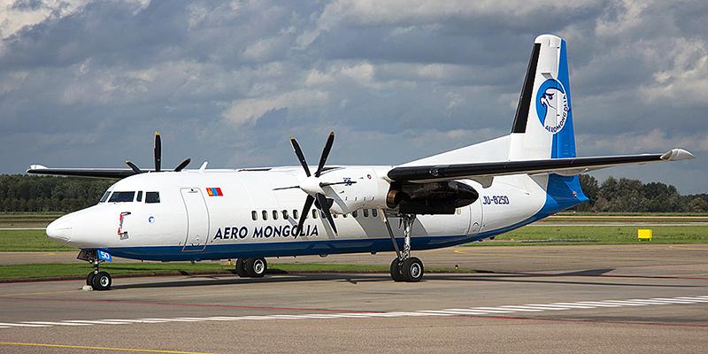 Fokker 50 авиакомпании Aero Mongolia