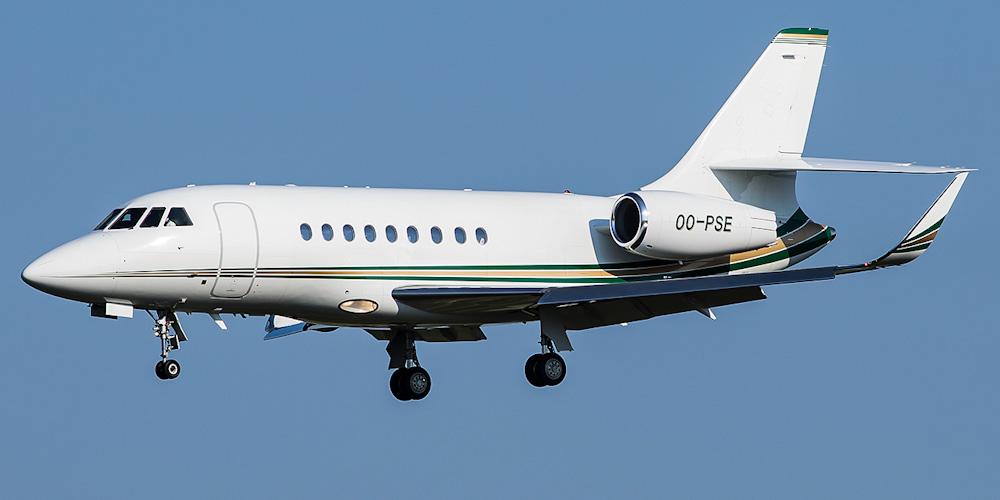 Самолет Dassault Falcon авиакомпании Abelag