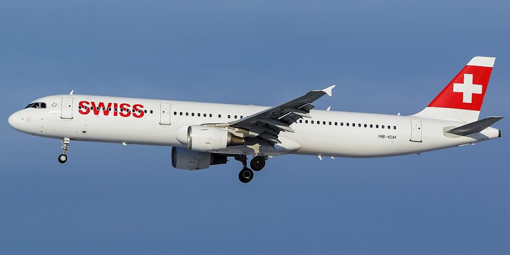 Airbus A321 авиакомпании Swiss