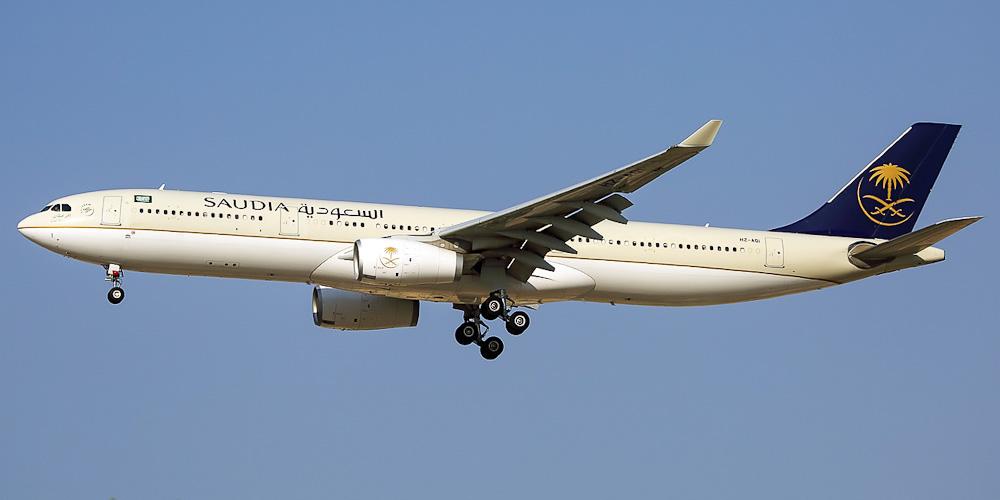 Самолет Airbus A330-300 авиакомпании Saudia