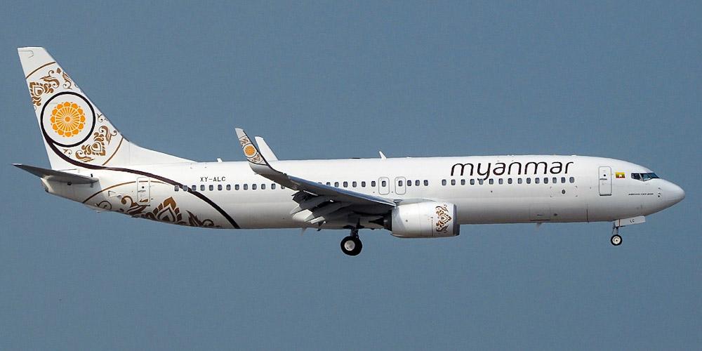 Боинг-737-800 авиакомпании Myanma Airways