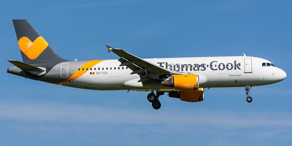 Airbus A320 авиакомпании Thomas Cook Airlines Belgium