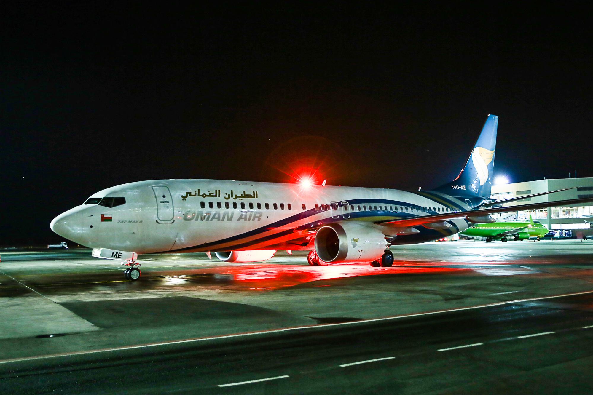 Авиалайнер Boeing 737 MAX 8 рег.номер A40-ME авиакомпании Oman Air