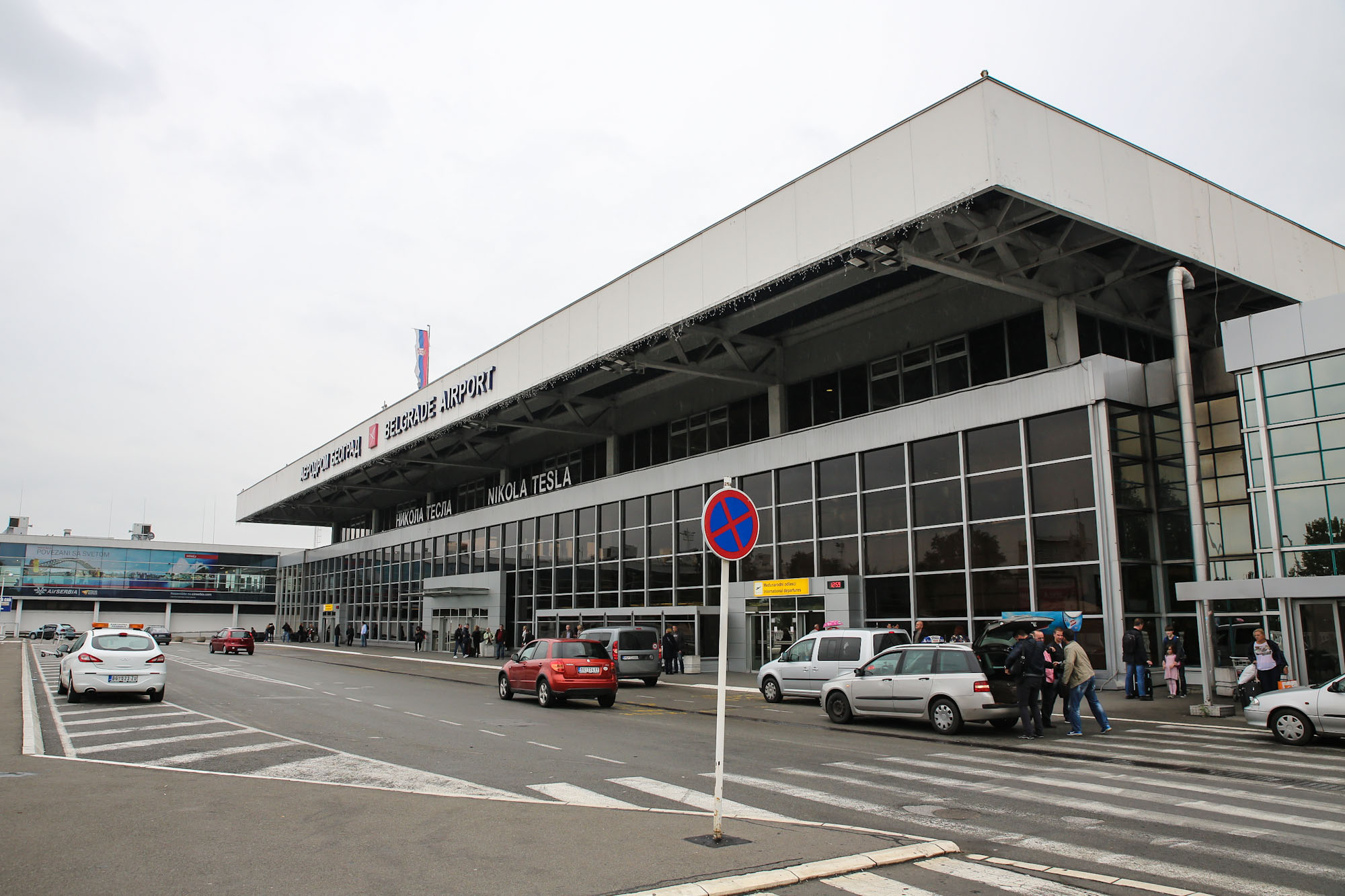 The passenger terminal of the airport Belgrade Nikola Tesla