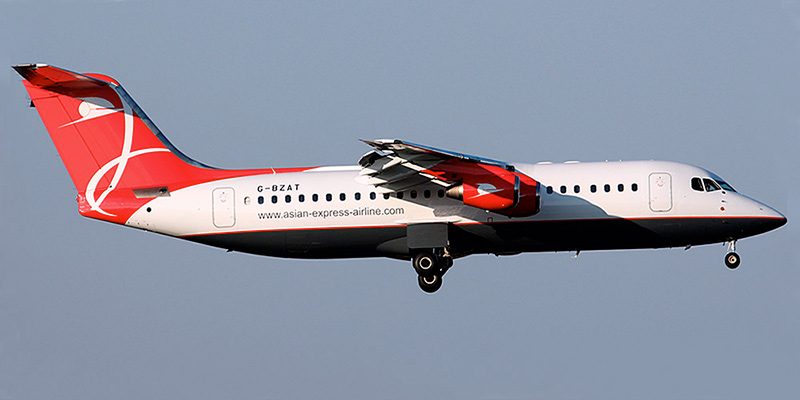 Самолет BAe-146 авиакомпании Asian Express Airline