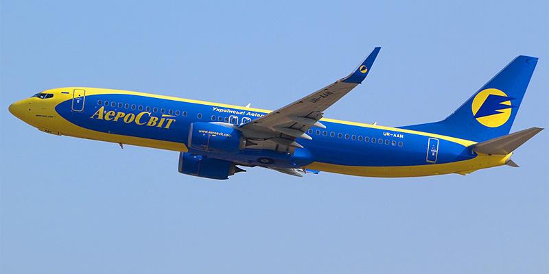 Самолет Боинг-737-800 авиакомпании Аэросвит