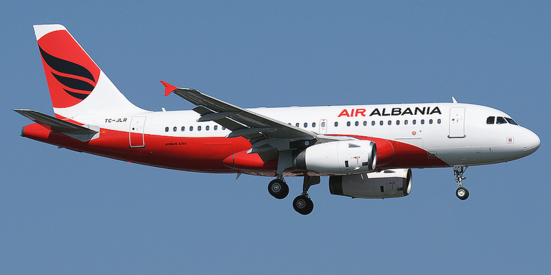 Самолет Airbus A320 авиакомпании Air Albania