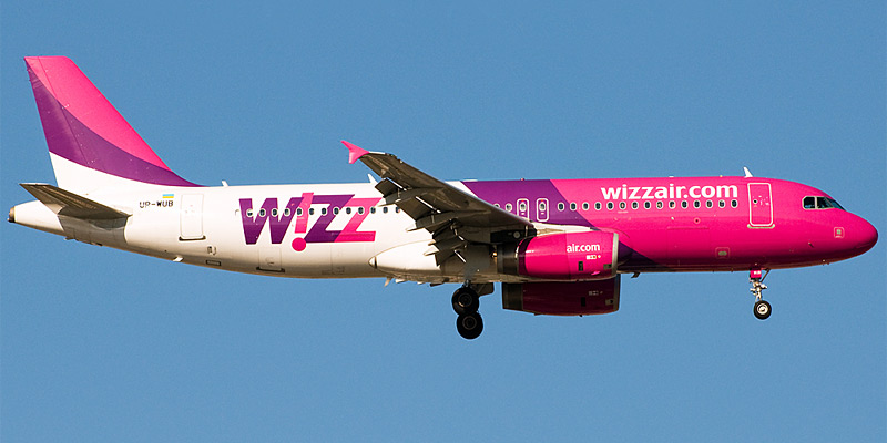 Самолет Airbus A320 авиакомпании Wizz Air Ukraine