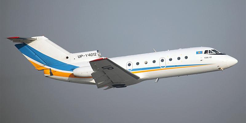 Самолет Як-40 авиакомпании Жезказган-Эйр