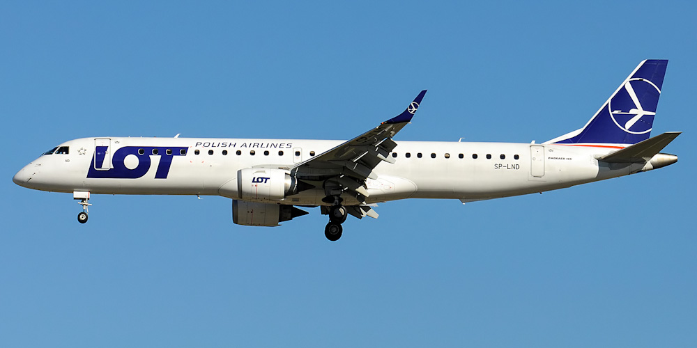 Embraer 195 авиакомпании LOT Polish Airlines