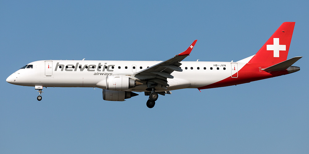 Самолет Embraer 190 авиакомпании Helvetic Airways