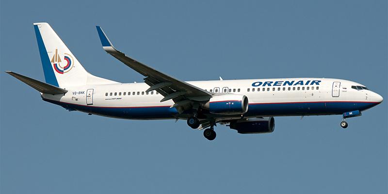Самолет Боинг-737-800 авиакомпании Оренэйр