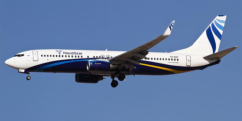 Самолет Боинг-737-800 авиакомпании Нордстар