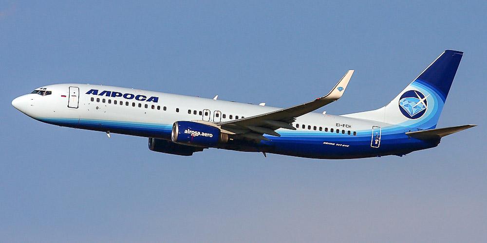 Самолет Боинг-737-800 авиакомпании Алроса