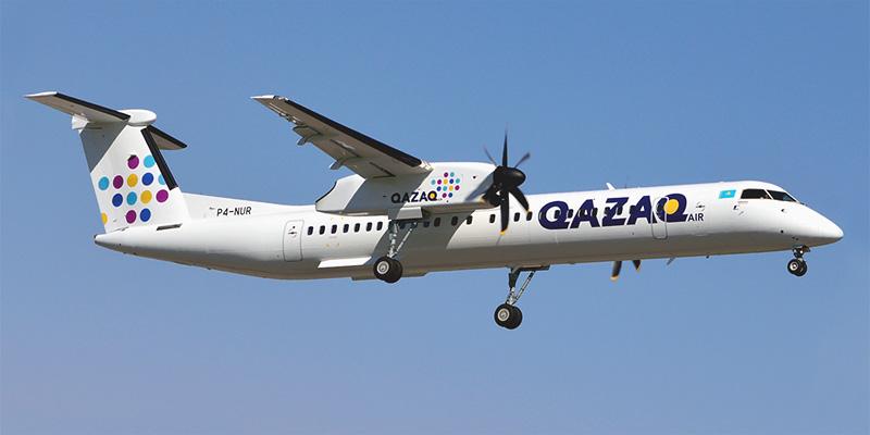 Bombardier Dash 8Q-400 авиакомпании Qazaq Air