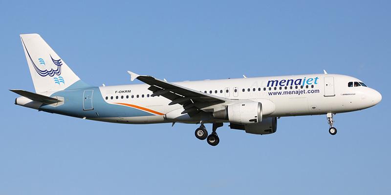 Airbus A320 авиакомпании Menajet