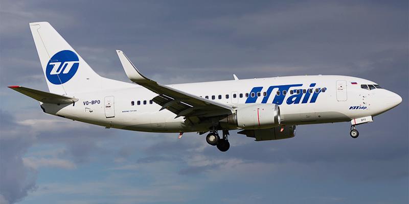 Самолет Боинг-737-500 авиакомпании ЮТэйр