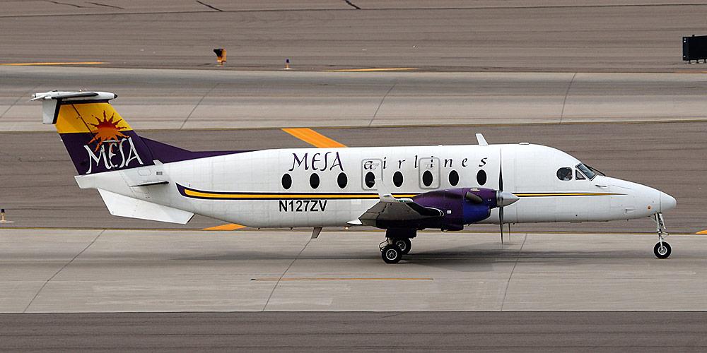 Самолет Beech 1900D авиакомпании Mesa Airlines