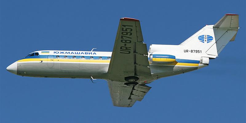 Самолет Як-40 авиакомпании Южмашавиа