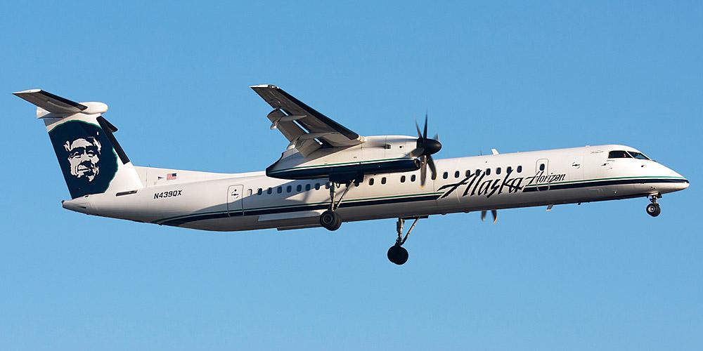 Самолет Bombardier Dash 8Q-400 авиакомпании Horizon Air