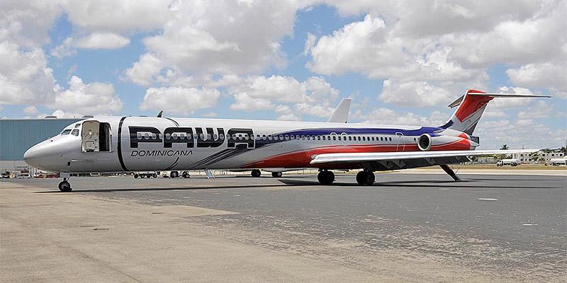 Самолет MD-80 авиакомпании PAWA Dominicana