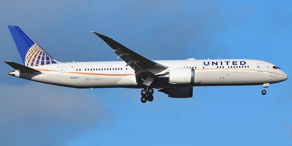Самолет Боинг-787-9 авиакомпании United