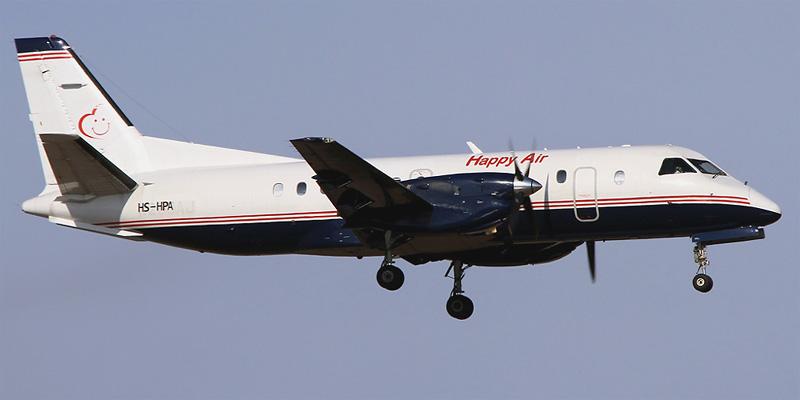 Самолет Saab 340 авиакомпании Happy Air