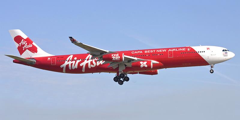 Самолет Airbus A340 авиакомпании AirAsia X