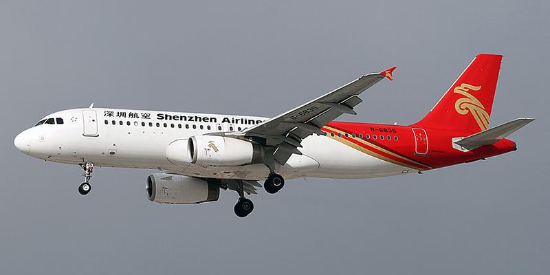 Airbus A320 авиакомпании Shenzhen Airlines