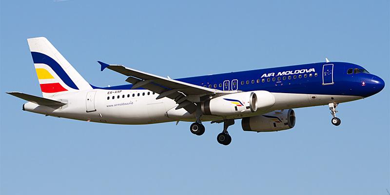 Самолет Airbus A320 авиакомпании Air Moldova