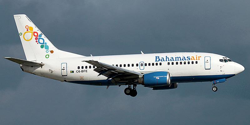 Самолет Boeing 737-500 авиакомпании Bahamasair