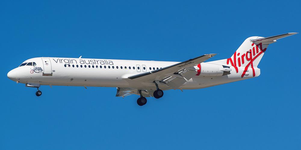 Самолет Fokker 100 авиакомпании Virgin Australia Regional
