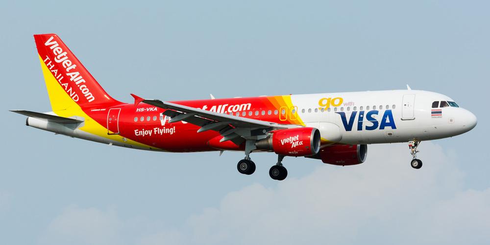 Airbus A320 авиакомпании Thai Vietjet Air