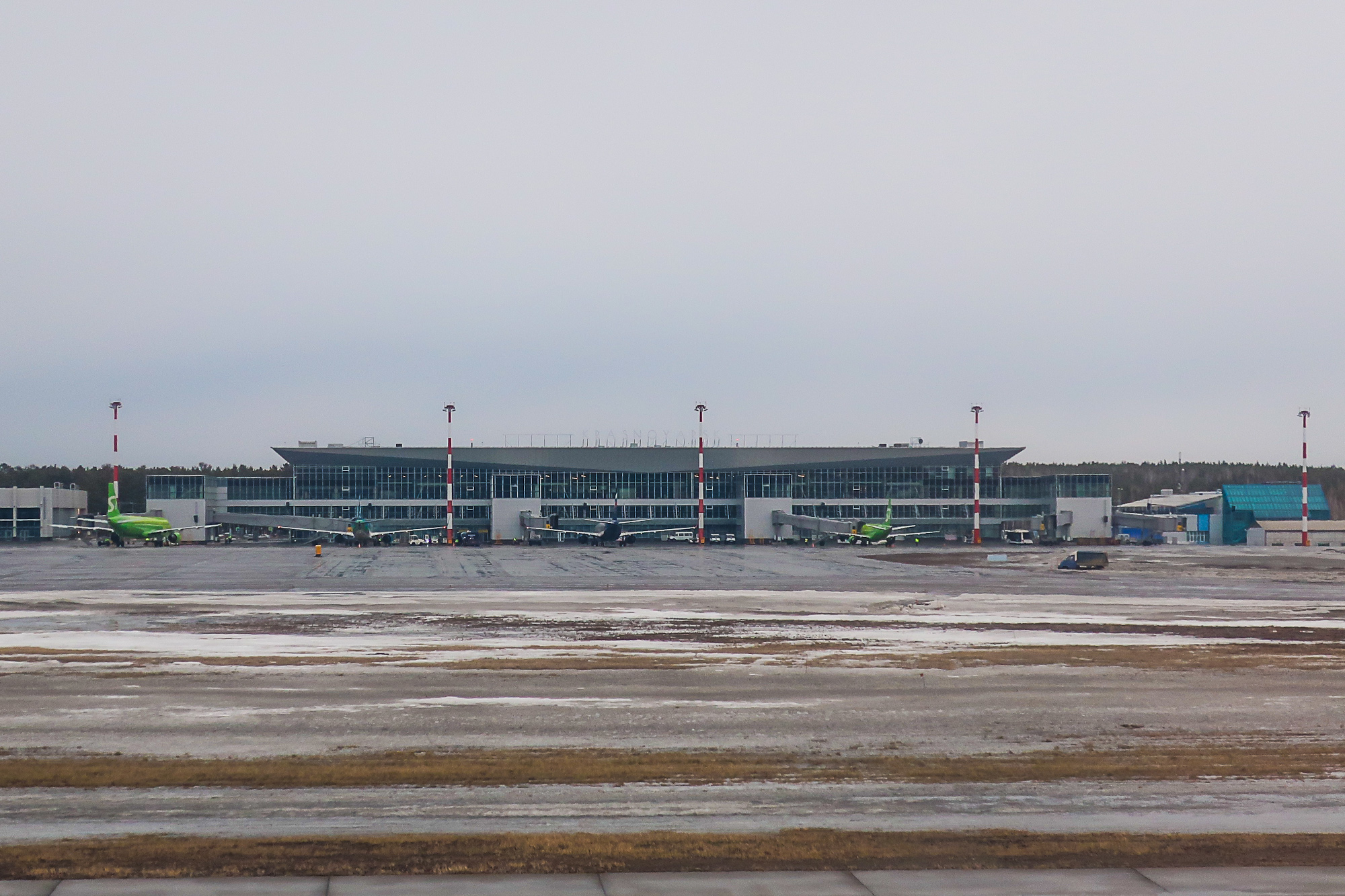 Passenger terminal 1 of the airport of Krasnoyarsk