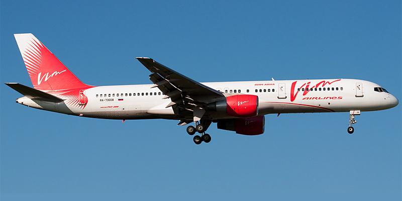 Самолет Боинг-757-200 авиакомпании ВИМ-авиа