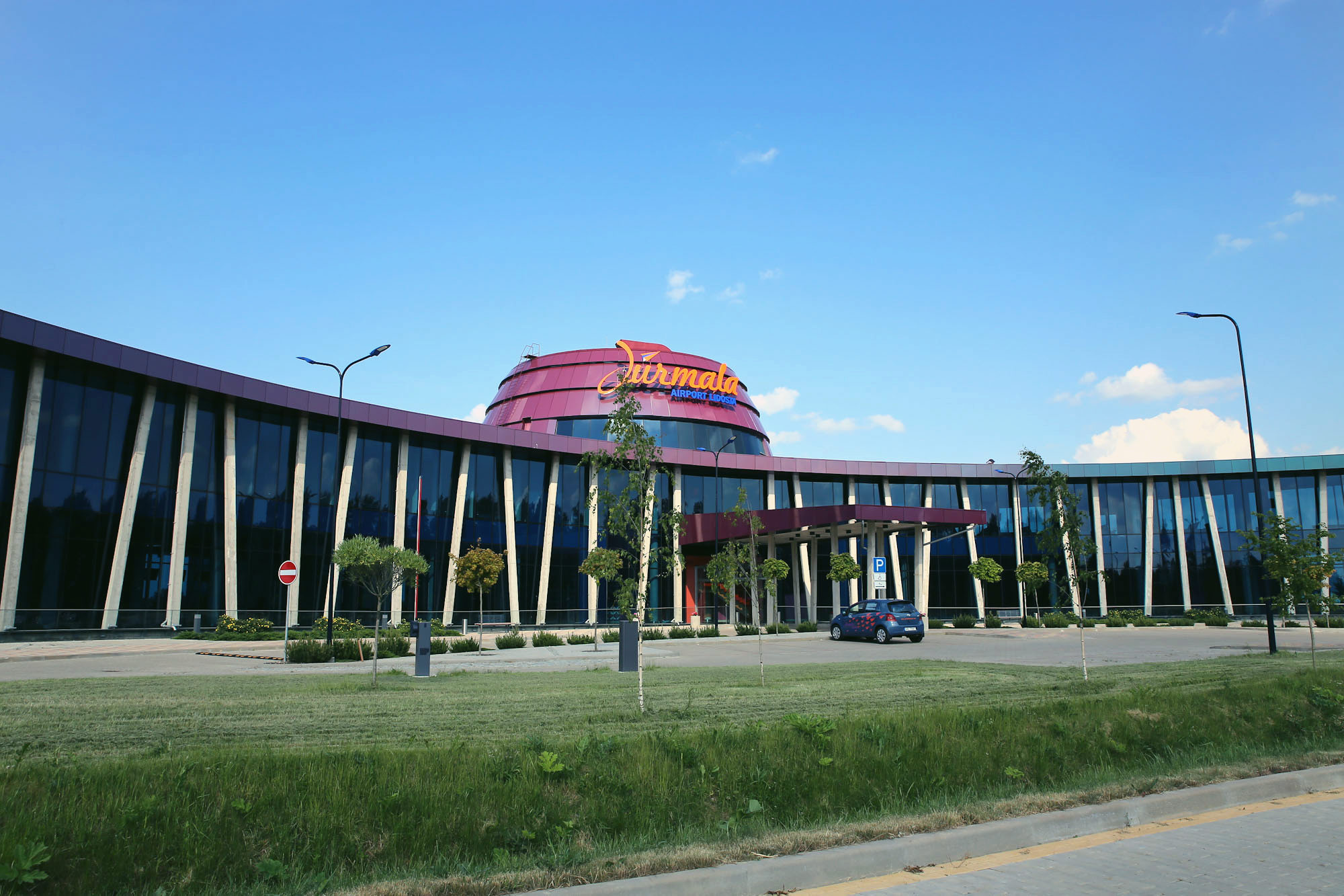 The passenger terminal of the airport and Jurmala