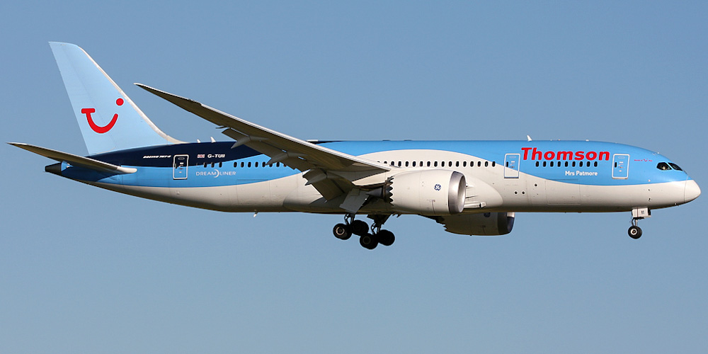 Самолет Боинг-787-8 авиакомпании Thomson Airways