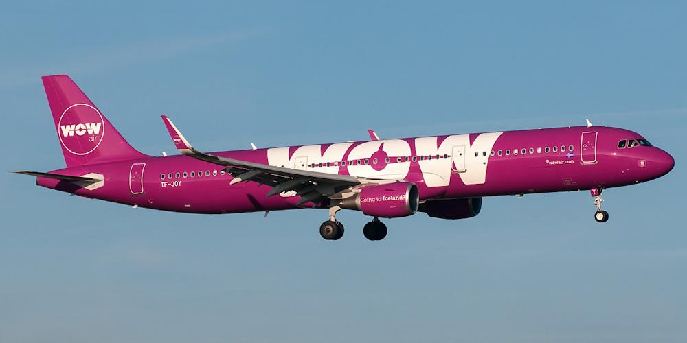 Airbus A321 авиакомпании WOW Air