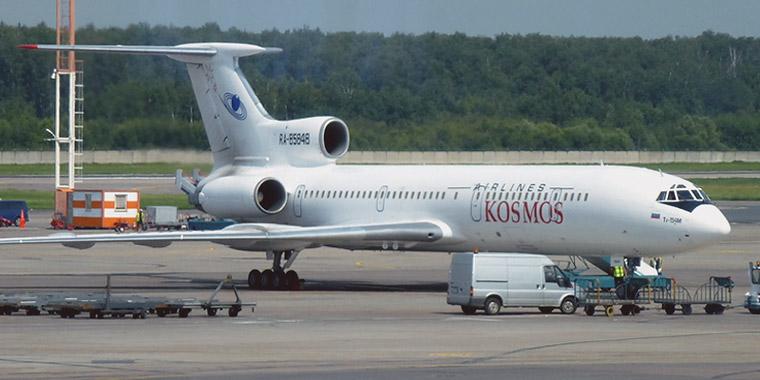Самолет Ту-154 авиакомпании Космос