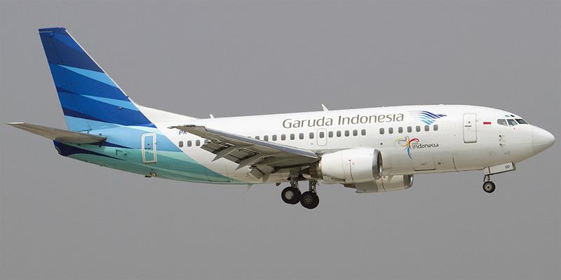 Самолет Боинг-737-500 авиакомпании Garuda Indonesia