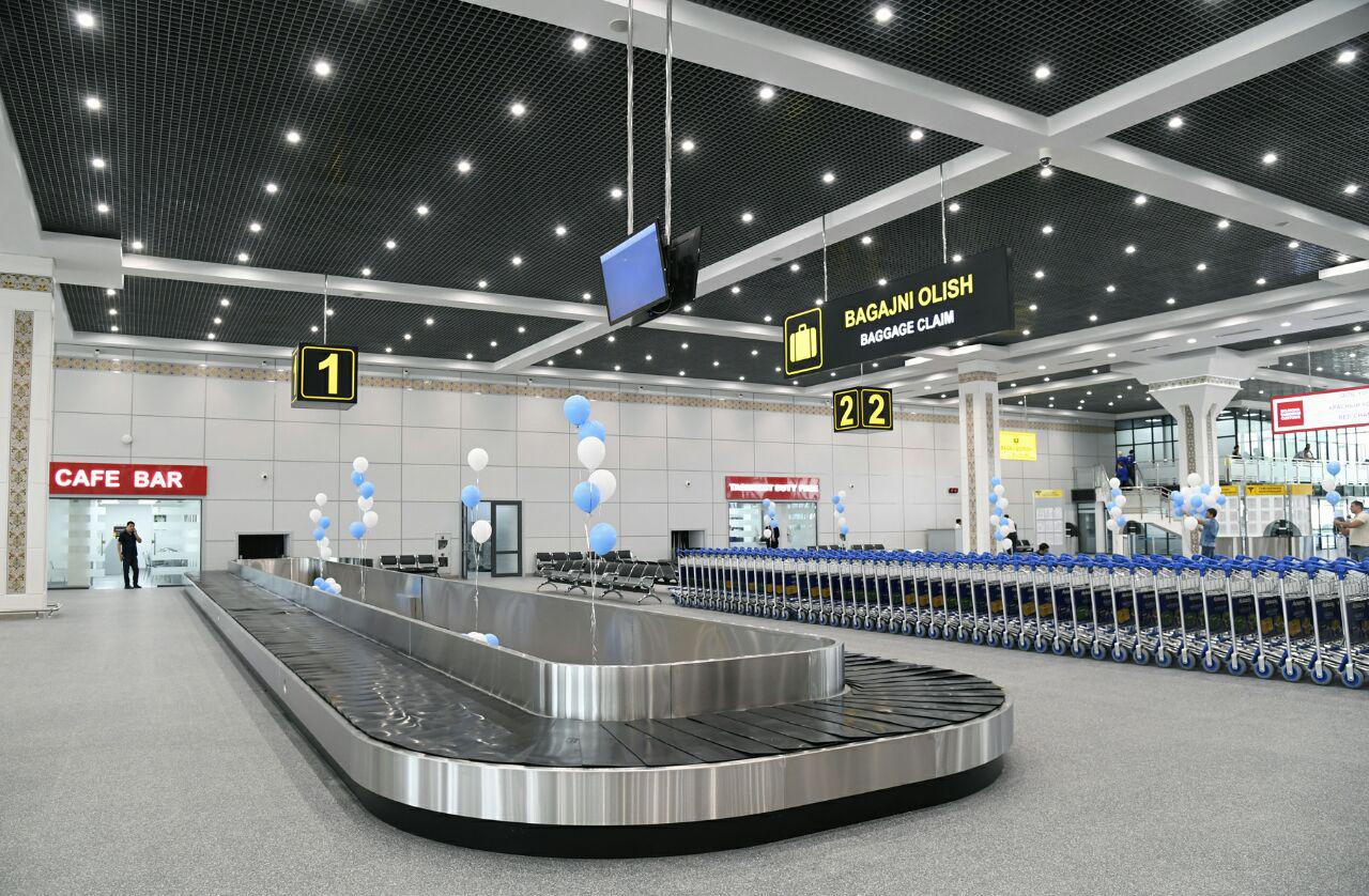 Baggage claim area at Tashkent airport
