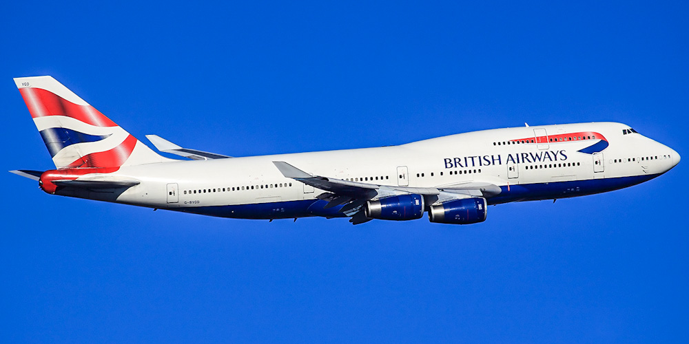 Боинг-747-400 авиакомпании British Airways