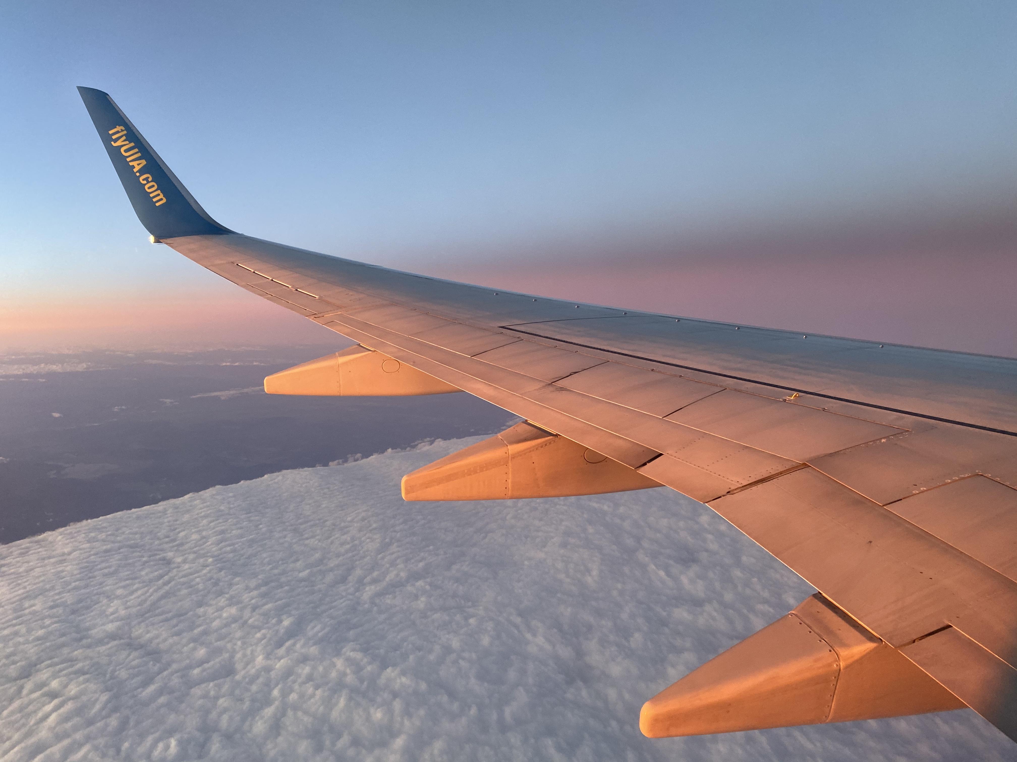 Палитра заката на Боинг 737-800