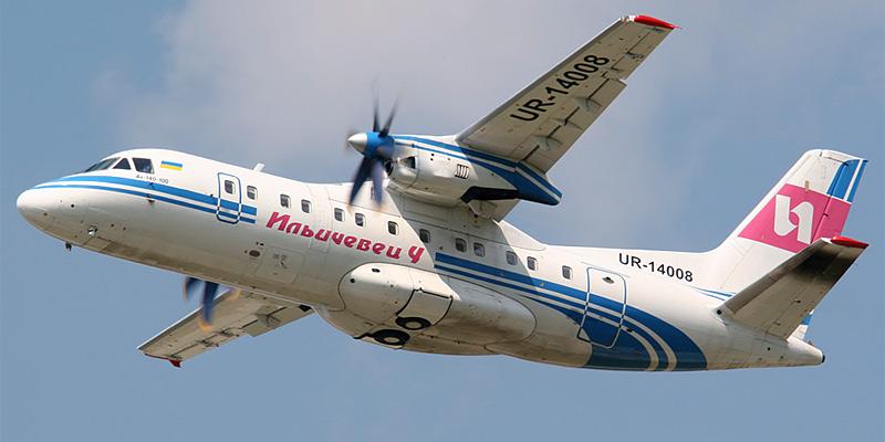Самолет Ан-140 авиакомпании Ильич-Авиа