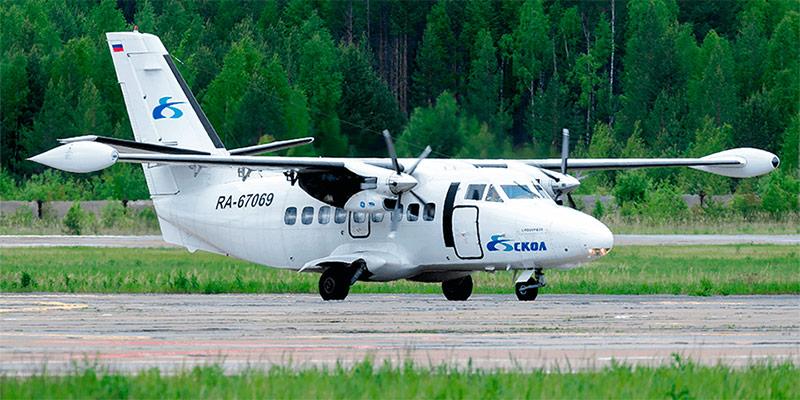 Самолет L-410 авиакомпании СКОЛ