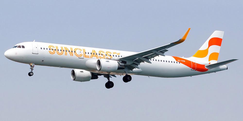Airbus A321 авиакомпании Sunclass Airlines
