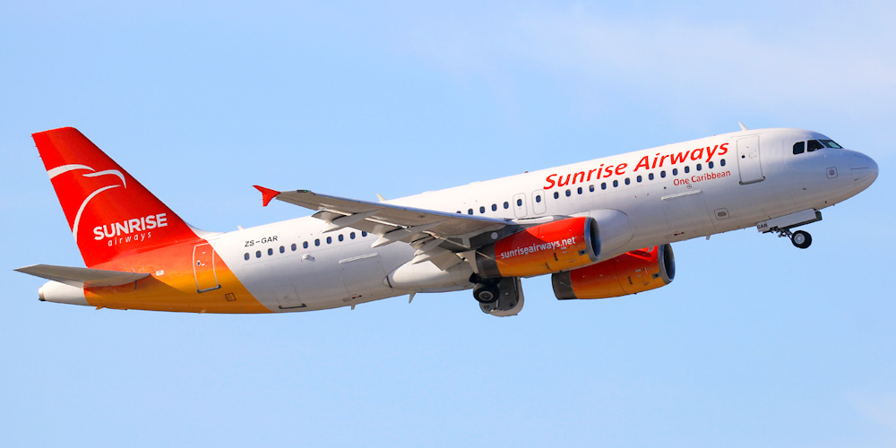 Airbus A320 авиакомпании Sunrise Airways