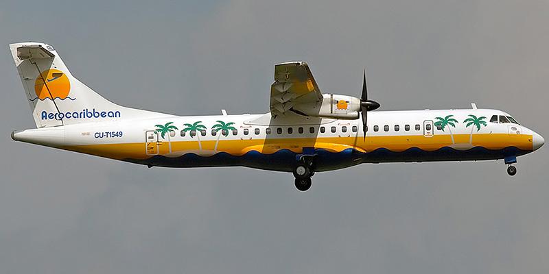 Самолет ATR 72 авиакомпании Aero Caribbean